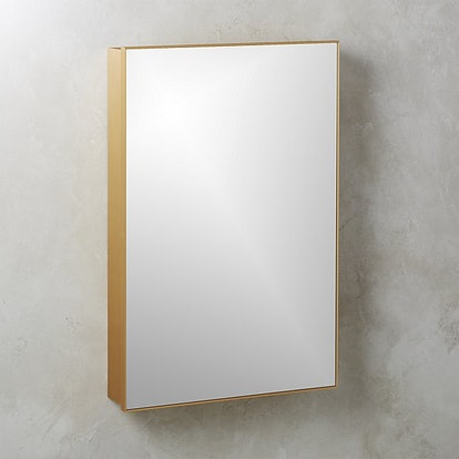 "Infinity Recessed Mirror Cabinet Large Brass 24""x36"""