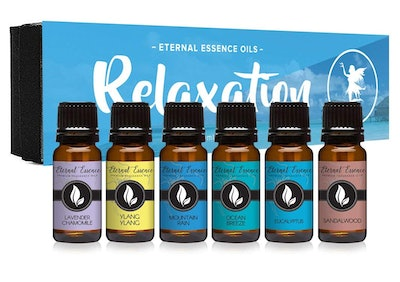 Eternal Essence Oils Relaxation Gift Set of Six Essential Oils