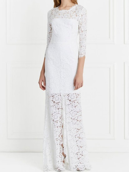 Carolyn Open Back Lace Gown