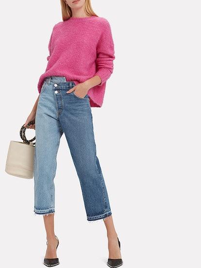 Split Wash Cropped Jeans