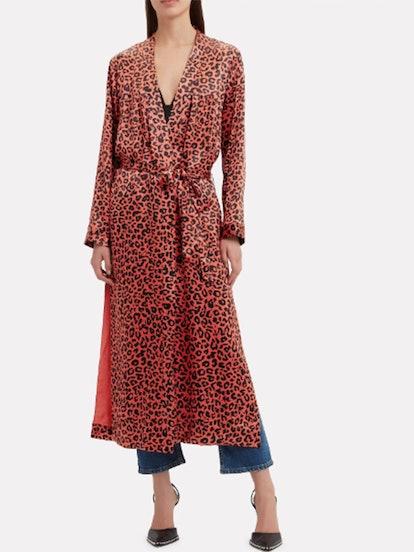 Leopard Silk Duster