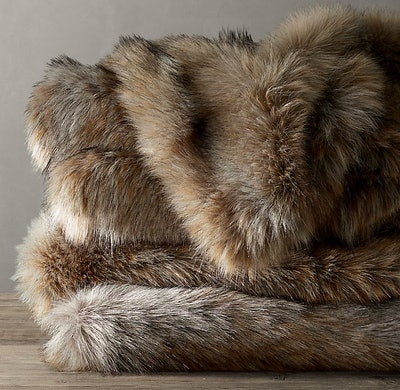 "Ultimate Faux Fur Throw - 50"" x 60"""