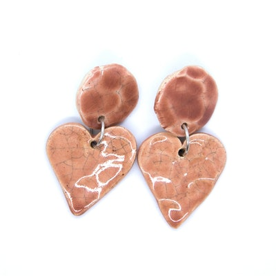 Coeur Rose Earrings