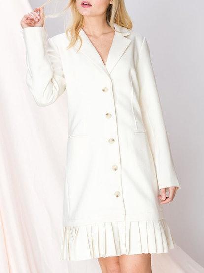 Kayla Pleated Blazer Dress