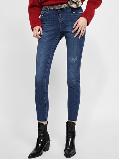 Belted A1975 Skinny Jeans