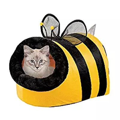 Collections Etc Cute Bumble Bee Enclosed Pet Bed