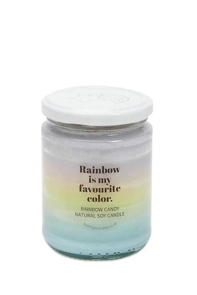 Pastel Rainbow Candle