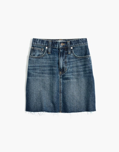 Madewell Rigid Denim Mini Skirt: Reworked Edition