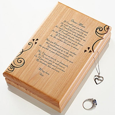"""""""A Poem For Her"""" Personalized Jewelry Box"""
