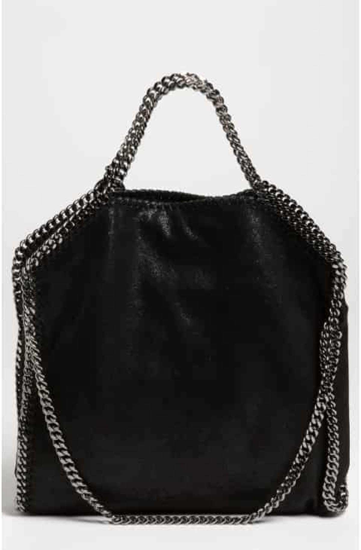 Faux Leather Foldover Tote