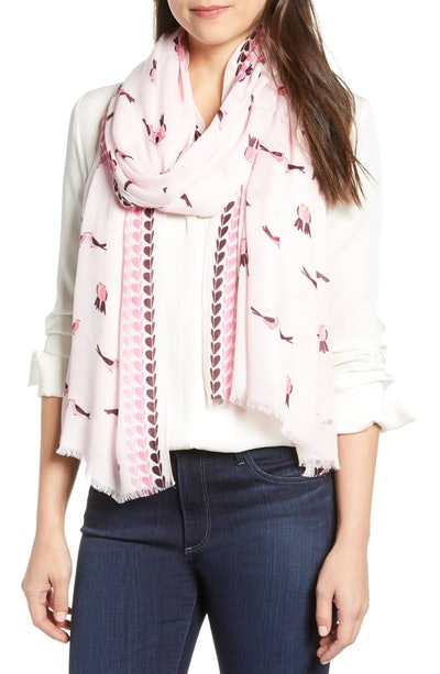 Kate Spade New York Love Birds Scarf