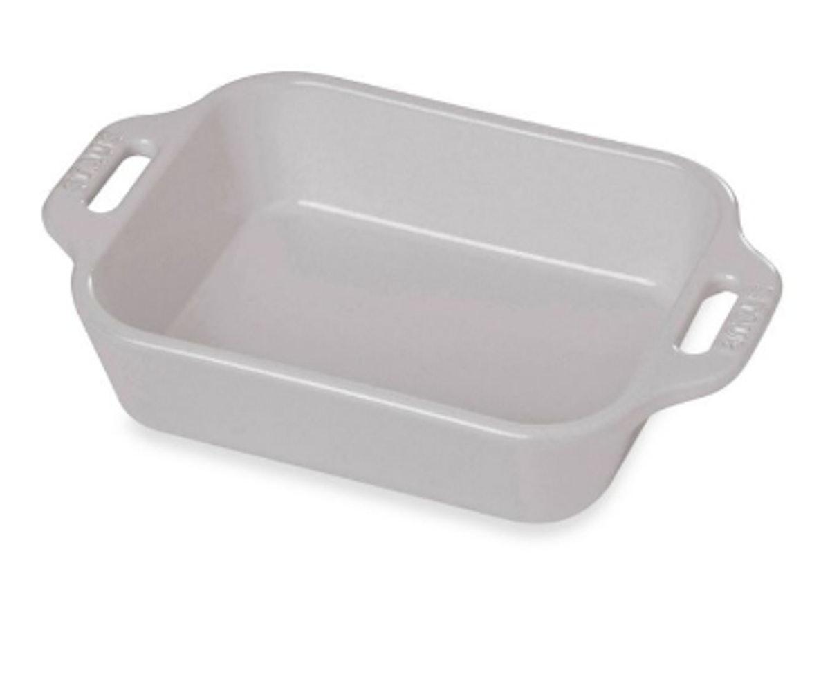 Staub 2.5-Quart Rectangular Baking Dish in White