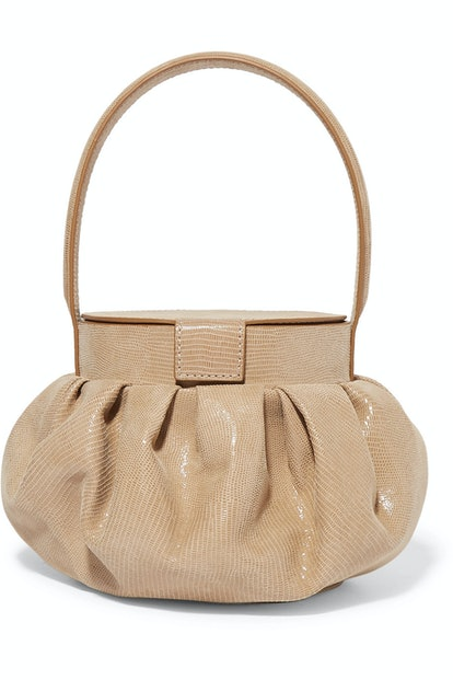 Chef Lizard-Effect Leather Tote