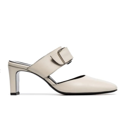 Beige Everyday 65 Buckled Mules