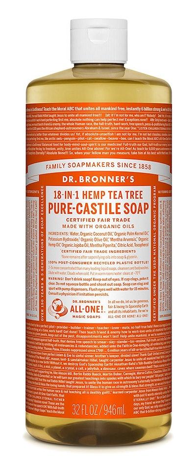 Dr. Bronner's 18-in-1 Hemp Tea Tree Pure-Castile Soap