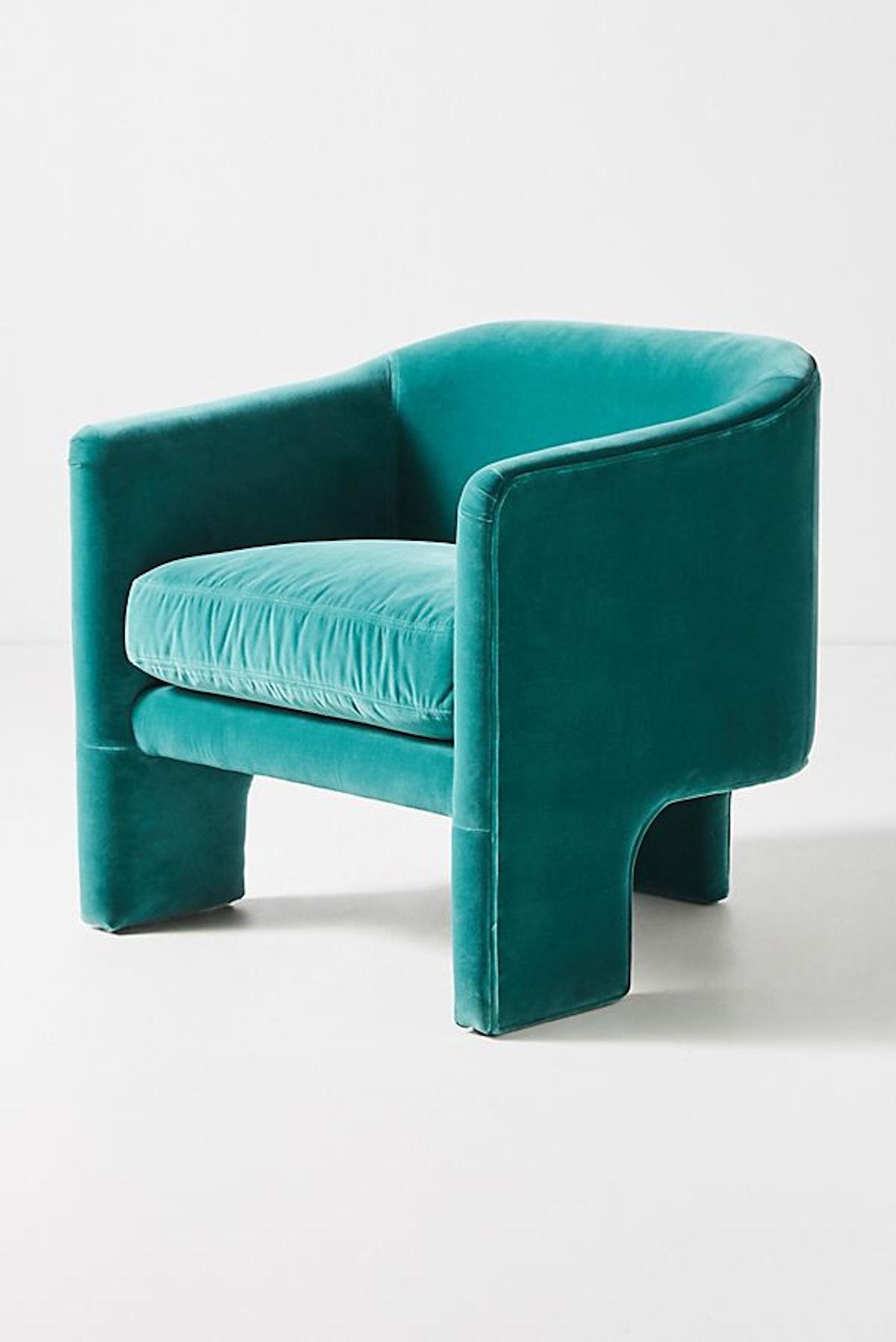 Effie Tripod Chair, Teal