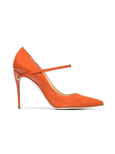 Orange Lorenzo 105 Leather Suede Pump