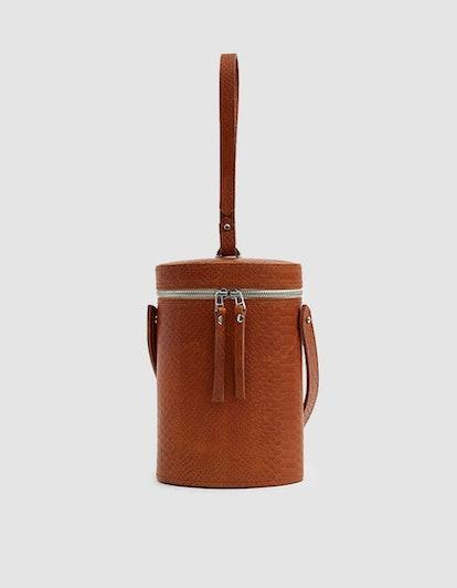 Sonya Lee Maya Snakeskin Bag in Rust