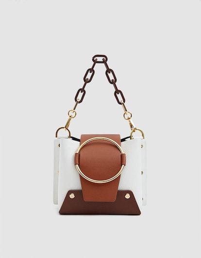 Yuzefi Mini Delila Bag in Bianco / Rust