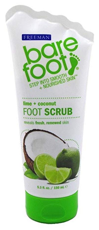 Freeman Bare Foot Lime & Coconut Exfoliating Foot Scrub