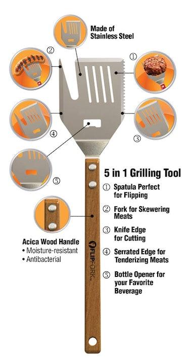 FLIPFORK Five-In-One BBQ Tool