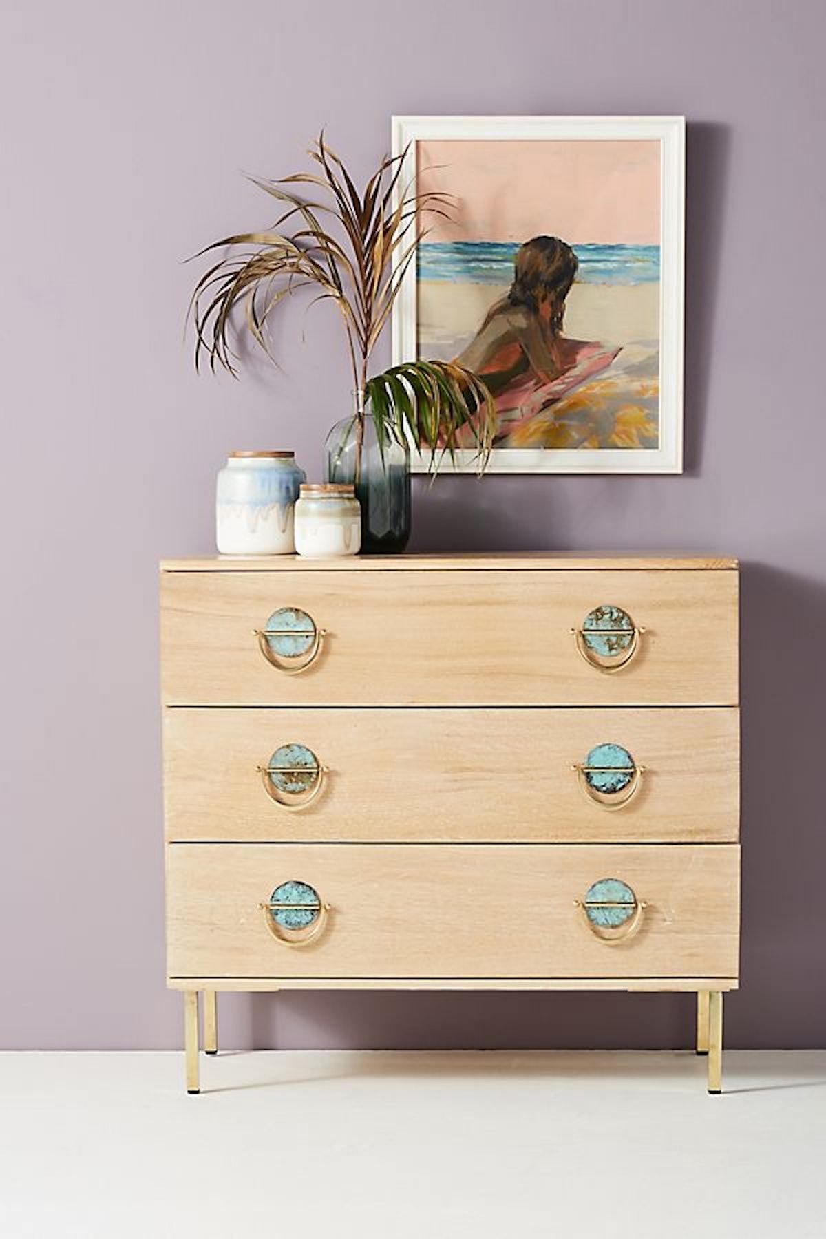 Isoke Three-Drawer Dresser, Natural
