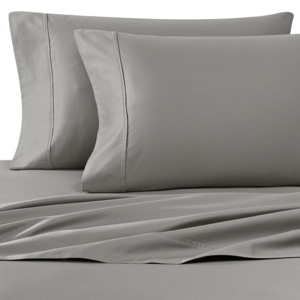 Wamsutta® 400-Thread-Count Sateen Queen Sheet Set in Grey