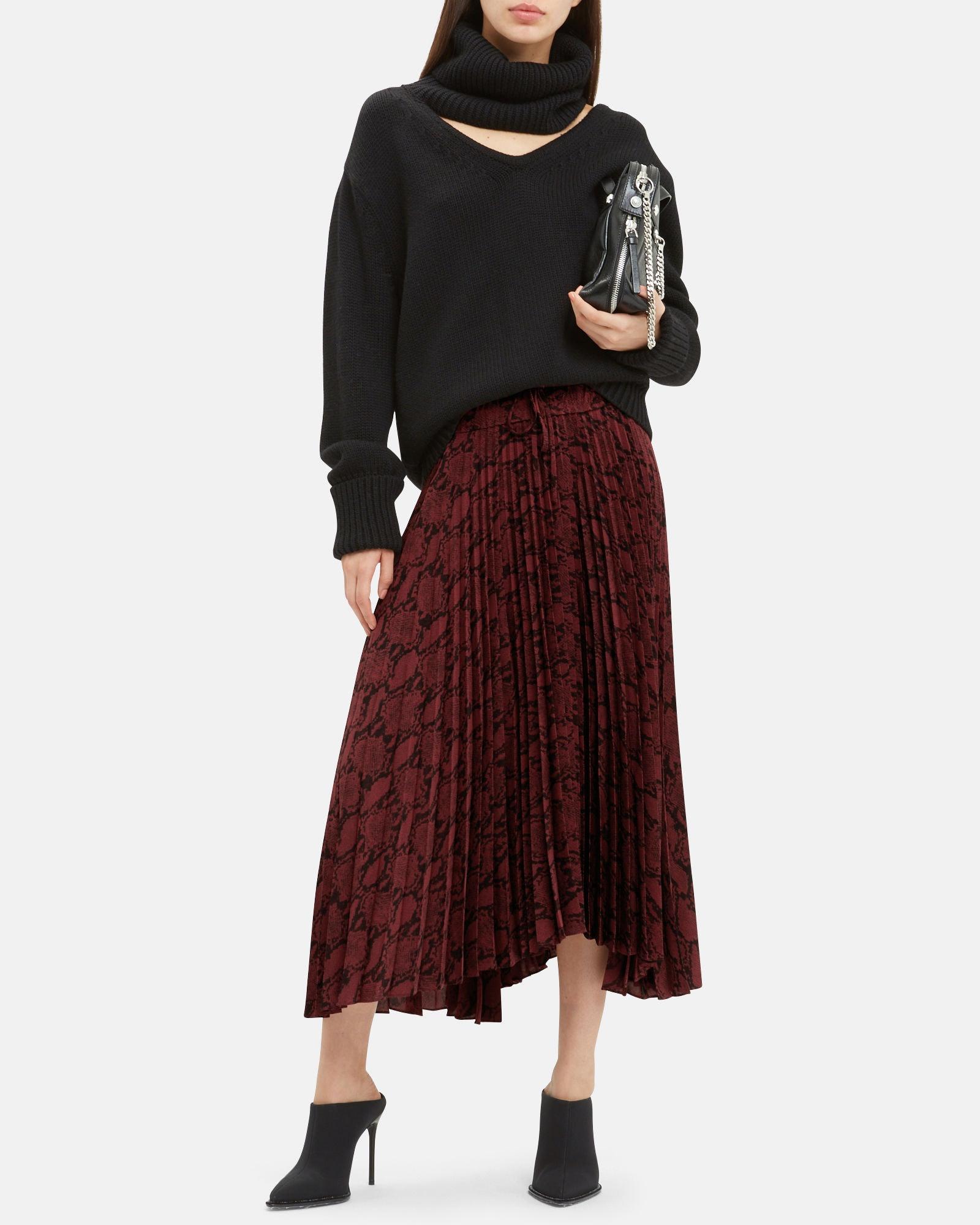 2c57da033f Zara Faux Leather Skirt Burgundy – DACC