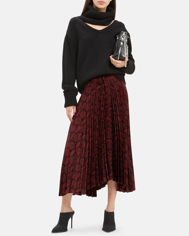 Maya Snake Print Skirt