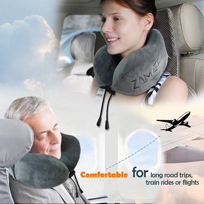 Zamat Memory Foam Travel Neck Pillow