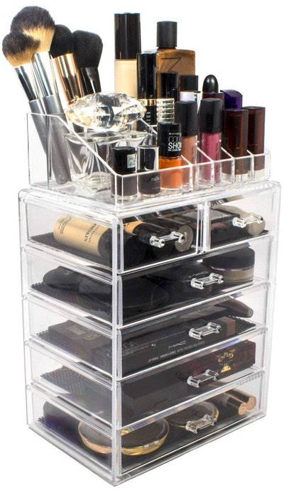 Sorbus Acrylic Cosmetic Makeup And Jewelry Display Case