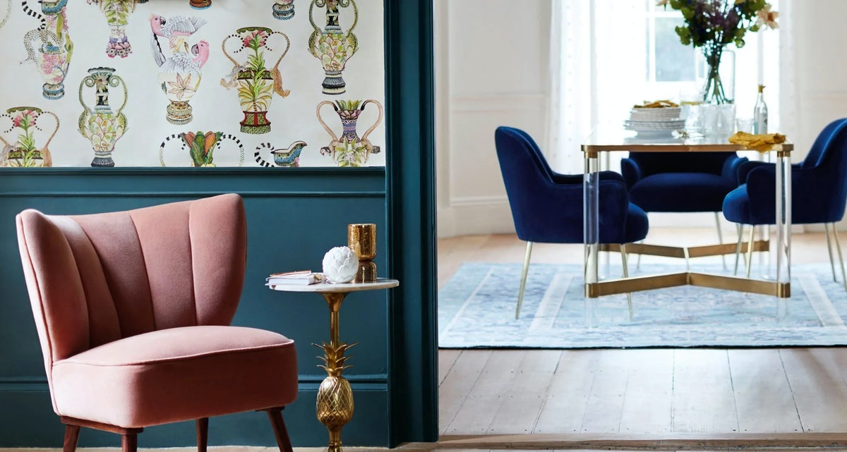 Anthropologie's Home Sale Has So Many Cute Velvet Chairs Up To 50 Percent Off