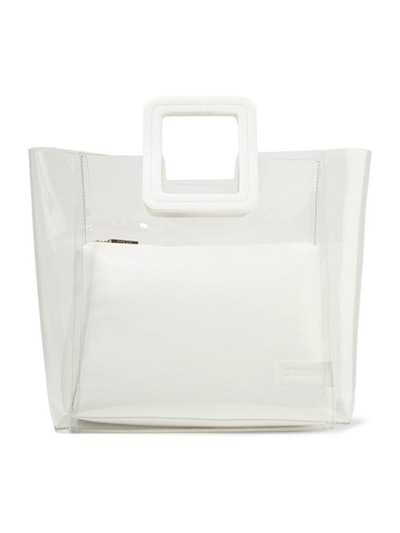 Shirley PVC And Leather Tote