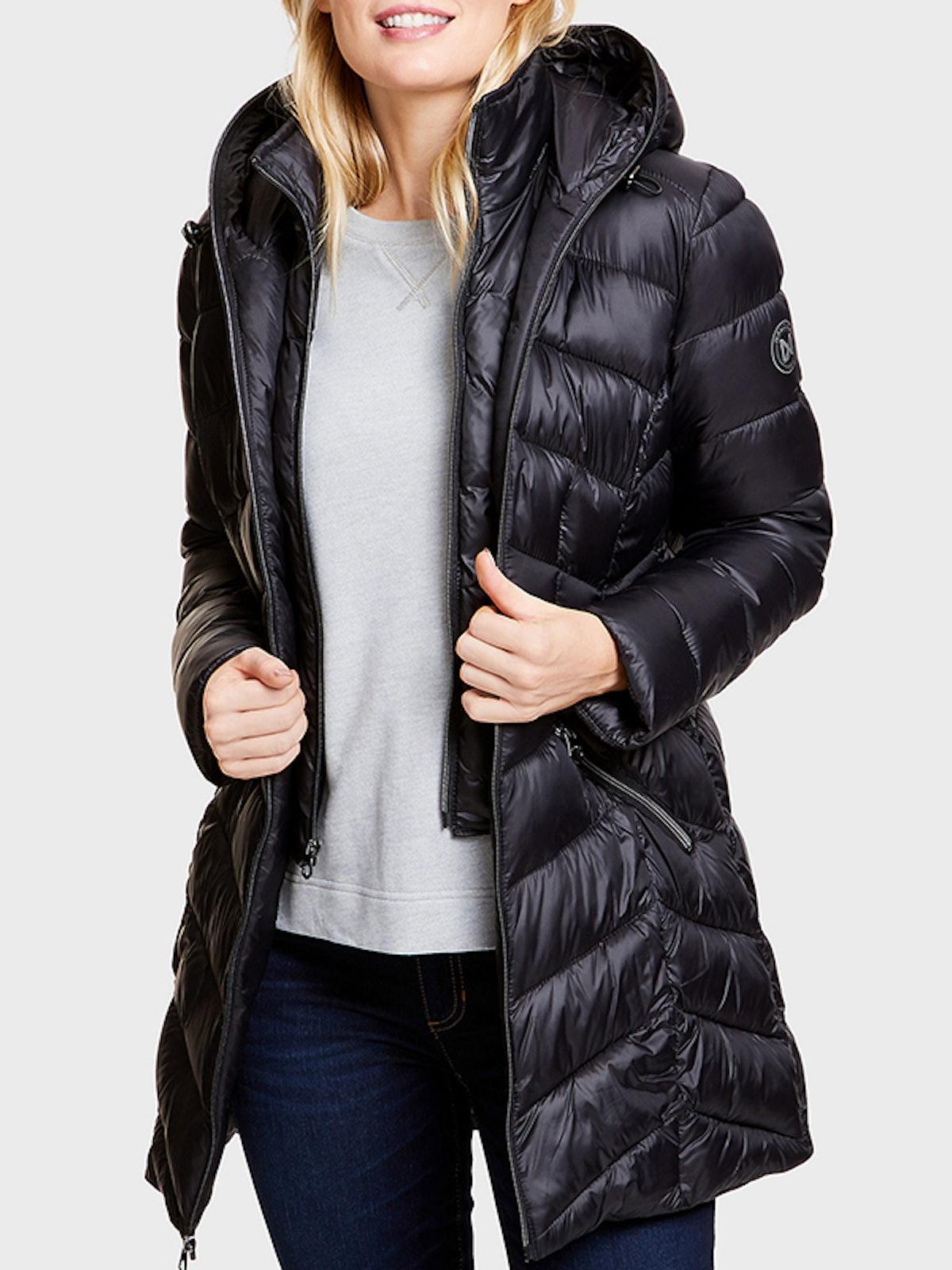 Puffer Coat With Marshmallow Bib