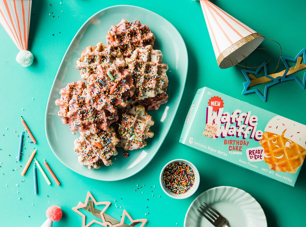 Birthday Cake Toaster Waffles Just Hit Walmart, Complete With Rainbow Sprinkles Inside
