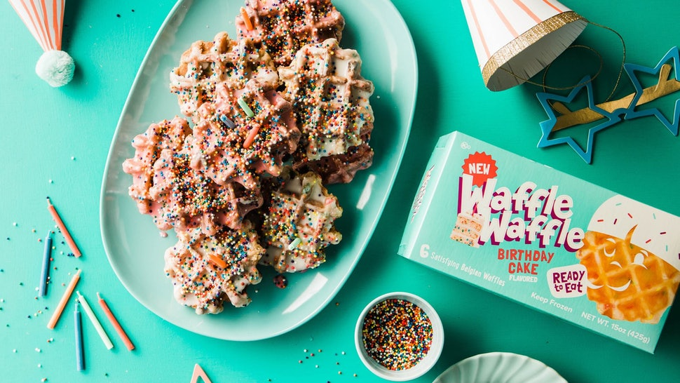 Birthday Cake Toaster Waffles Just Hit Walmart Complete With Rainbow Sprinkles Inside
