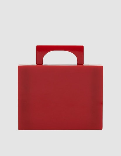 Valet Studio Alexa Resin Bag in Red