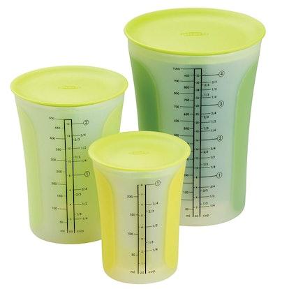 Chef'N SleekStor Pinch + Pour Measuring Beaker Set (3 Pieces)