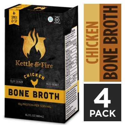 Kettle and Fire Chicken Bone Broth (Pack of 4)