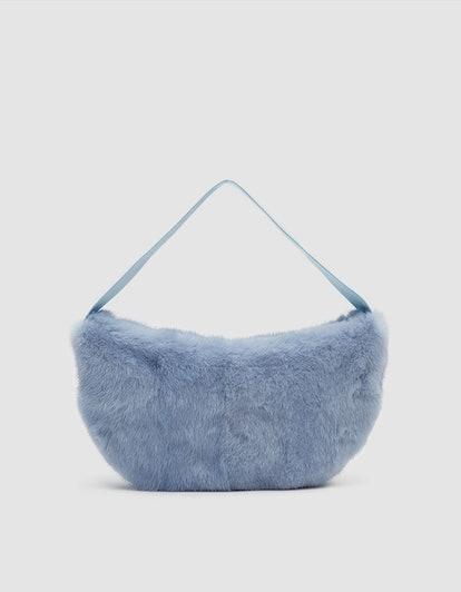 Saks Potts Betty Mink Bag in Baby Blue