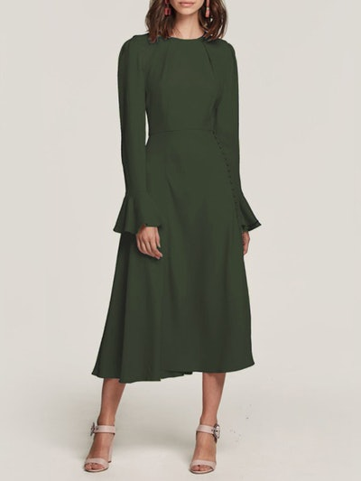 Yahvi Tailored Midi Dress