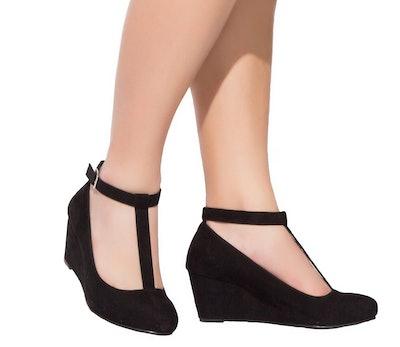 Luoika Women's Wide Width Wedge Shoes