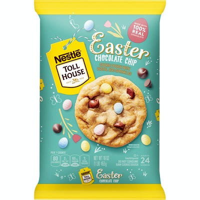Nestle Toll House Easter Chocolate Chip Cookie Dough With Pastel Egg Sprinkles