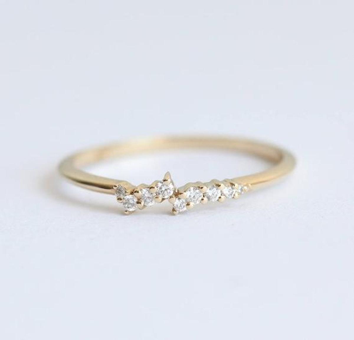 MinimalVS - Diamond Ring 14k Gold Cluster Ring
