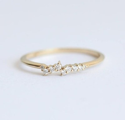 MinimalVS - Diamond Ring 14k Gold Cluster Ring