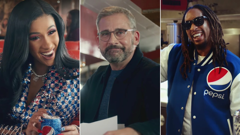 Cardi B Steve Carell Lil Jon S 2019 Super Bowl Commercial With