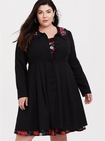 Embroidered Coat Dress