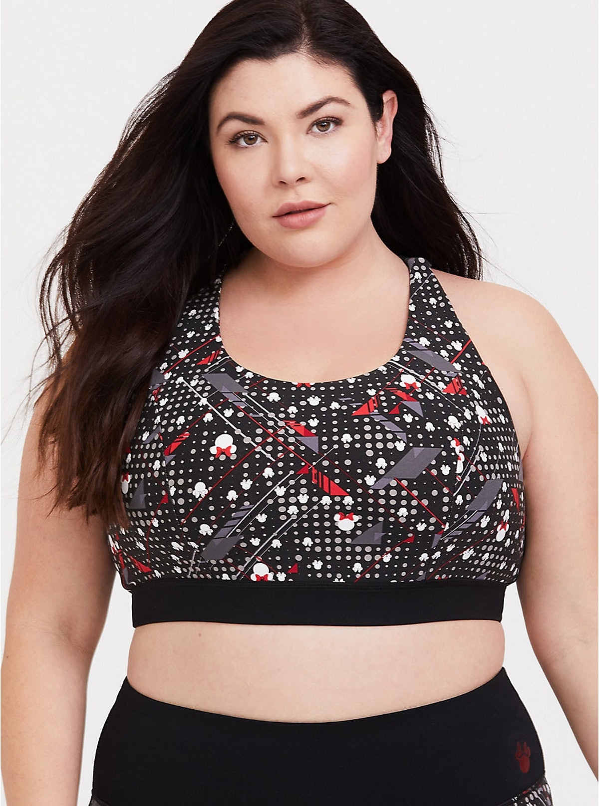 Dots and Bows Strappy Sports Bra