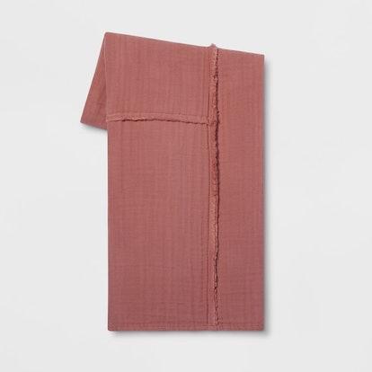"60""x50"" Pieced Cotton Gauze Throw Blanket - Project 62™"