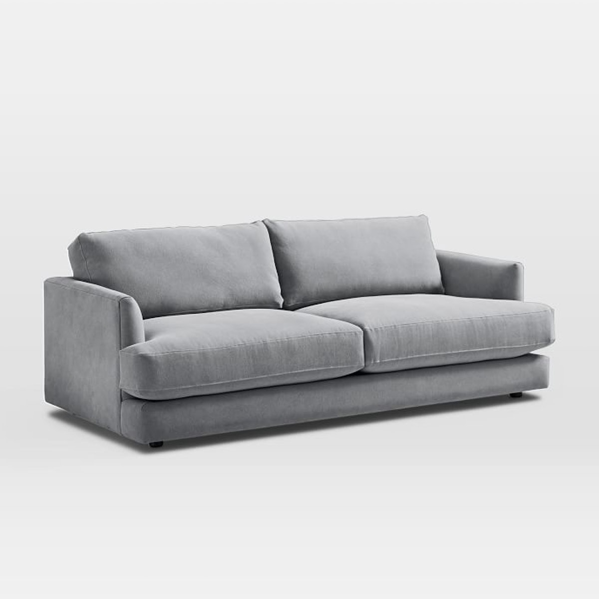 """Haven Sofa (84""""), Performance Washed Canvas, Gray"""